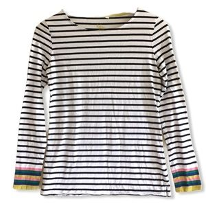 Boden Breton rainbow stripe long sleeve shirt 6